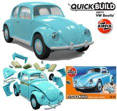 Fusca VW Beetle Airfix Quick Build – Blocos de Montar Tipo LEGO