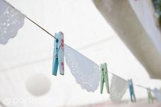 Shabby Chic Baby Shower - Baby Clothes Line Garland