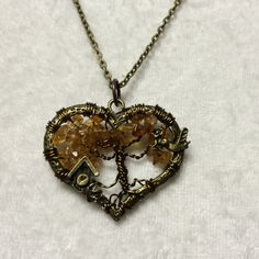 Tree Of Life Necklace Dark Citrine Pendant On by Just4FunDesign, $27.00