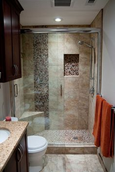 Tiny house bathroom - Looking for small bathroom ideas? Take a look at our pick of the best small bathroom design ideas to inspire you before you start redecorating. Master Bathroom Shower, Tiny House Bathroom, Basement Bathroom, Bathroom Ideas, Modern Bathroom, Small Bathrooms, Shower Ideas, Bathroom Layout, Bathroom Designs