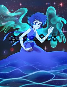Steven Universe: Lapis Lazuli by Pepperly Steven Universe Lapis Lazuli, Lapis And Peridot, Nickelodeon, Lapidot, Cartoon Network, Adventure Time, Me Me Me Anime, Pokemon, Fan Art