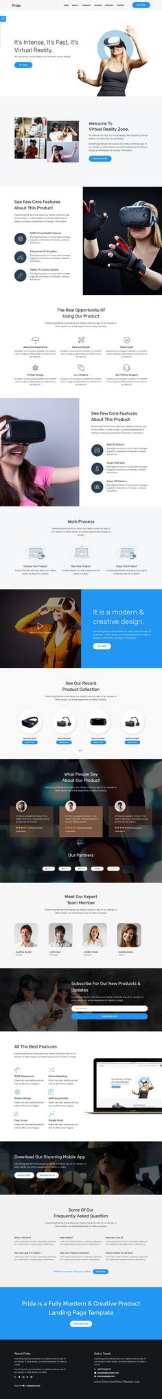 Pride is clean and modern design responsive #bootstrap template for creative #product landing page #website with 10 different homepage layouts to live preview & download click on Visit