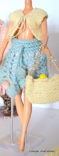 Antigas Roupas de crochê e tricô da Boneca Susi anos 60