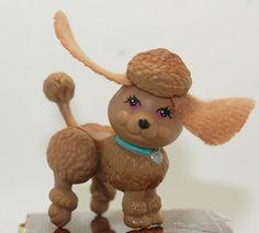 Vintage Littlest Pet Shop Pet Dog Puppy Fancy Poodle Chocolate My Real Pets #2 #Hasbro