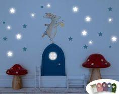 Wandtattoo Hase und Sterne