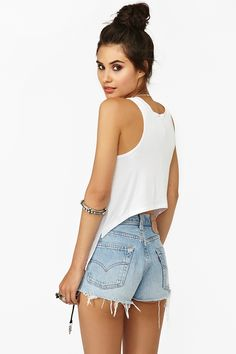 Back Up Tank in White
