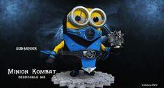 Minion: Sub-Zero, Mortal Kombat Amor Minions, Minions Fans, Despicable Minions, Cute Minions, Minions Quotes, Minions Images, Minion Pictures, Minion Characters, Cosplay Characters