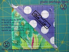 made by ChrissieD: Tutorial: Using A Bloc-Loc To Cut Half-Square Triangle (HST) Squares