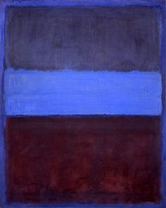 Another of Mark Rothko's signature color field paintings. I lived next door to the Rothko Chapel in Houston for a couple of years. It is very spiritual and serene there.