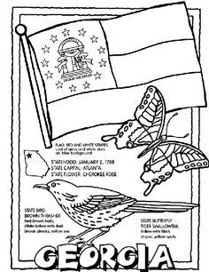georgia state stamp coloring page coloring pages pinterest