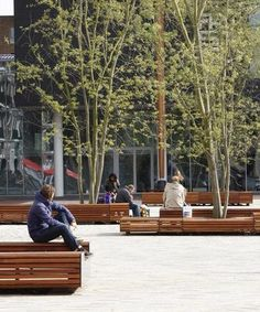 Beautiful public benches in Leeuwarden, NL. Click image for link to details and visit the slowottawa.ca boards >> https://www.pinterest.com/slowottawa/