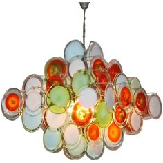 Gino Vistosi, Murano Chandelier, 1960's | From a unique collection of antique and modern chandeliers and pendants  at http://www.1stdibs.com/furniture/lighting/chandeliers-pendant-lights/