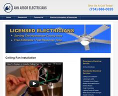 Local Business Website for Ann Arbor Electricians http://annarborelectricians.org