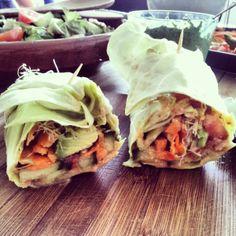 Raw Vegan Burritos Recipe by The Raw Food Sisters - #rawburritorecipe #rawvegan #veganburritos