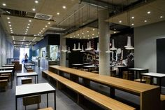 Jackie Su Restaurant | bench tyle seating |