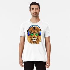 Lion Design, Wash Bags, My T Shirt, Large Prints, Tshirt Colors, Looks Great, Chill, Tees, Shirts