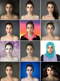 """Comment voit-on la beauté dans les différents pays du monde ? C'est la question à laquelle une journaliste a voulu répondre en demandant à des pros (et amateurs) de Photoshop de plus de vingt pays de """"la rendre belle"""". Les résultats témoignent bel et bien de visions (radicalement) différentes d'un idéal féminin selon l'endroit du globe sur lequel on se trouve..."""