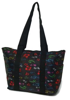 Music Note Lunch Tote Bag Personalized Lunch Bags, Lunch Tote Bag, Insulated Lunch Bags, Music Notes, Gym Bag, Monogram, Board, Monograms, Sheet Music