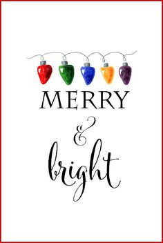 Free Christmas Printables | Merry and Bright | DIY Wall Art, Crafts, Cards | onsuttonplace.com