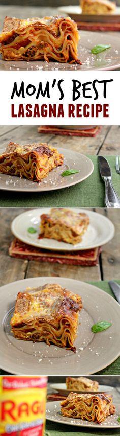 Mom's Best lasagna Recipe #SauceSome #ad