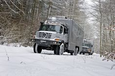 Zetros outdoor truck for expedition and hunting, delivered to Mongolia with body from Hartmann Spezialkarosserien.