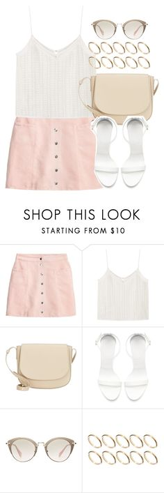 """Untitled #12274"" by vany-alvarado ❤ liked on Polyvore featuring H&M, MANGO, Mansur Gavriel, Zara, Miu Miu and ASOS"