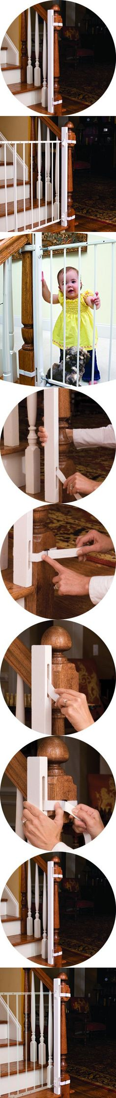 EZ-Fit Baby Safety Gate Adapter Kit - Protect Banisters and Walls - Great for Children and Pets - ONLY Includes (1) one adapter side - Please review all bullets and description prior to purchase