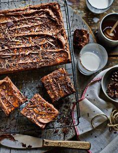 Double chocolate fudge traybake