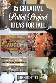 Pallet Project Ideas for Fall | DIY Pallet Projects For Fall by Pioneer Settler at http://pioneersettler.com/pallet-project-ideas-fall/