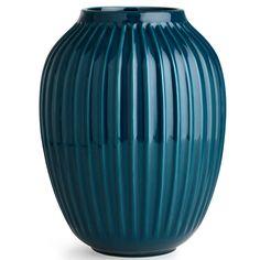Hammershøi Vase H 25 cm, Petrolium Blau, Kähler Hans Christian, Small Space Design, Small Spaces, Danish Interior, Elegant, Decoration, Matcha, Creations, Pottery