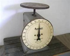 Image detail for -vintage Kitchen Scale grey metal industrial decor Auto ...