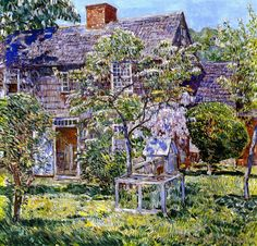 The Athenaeum - Old Mulford House, East Hampton (Frederick Childe Hassam - )