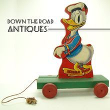 Fisher Price Donald Duck Majorette Pull-toy Found on Ruby Lane