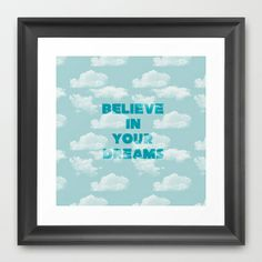 Dream in the Clouds Framed Art Print by Zen and Chic - $35.00
