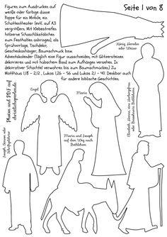 Weihnachtliche Silhouetten zum Ausdrucken | Christliche Perlen