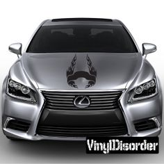 Hood Flames Wall Decal - Vinyl Decal - Car Decal - SM047