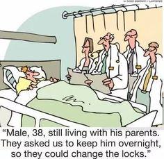 Empty Nest funny cartoons from CartoonStock directory - the world's largest on-line collection of cartoons and comics. Adult Cartoons, Funny Cartoons, Funny Comics, Adult Humor, Funny Jokes To Tell, You Funny, Funny Stuff, Hilarious Jokes, Hilarious Pictures