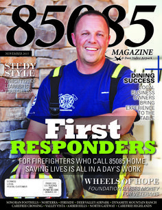 The Nov '15 cover of 85085 Magazine  Produced by The Media Barr