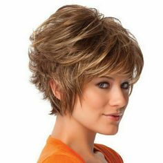 Women Short Curly Brown Hair Heat Resistant Wigs Cosplay + Hair Net Gift in Health & Beauty, Hair Care & Styling, Hair Extensions & Wigs, Wigs & Hairpieces Short Hair Wigs, Cute Hairstyles For Short Hair, Bob Hairstyles, Layered Hairstyles, Curly Short, Curly Wigs, Short Haircuts, Wavy Hair, Wig Styles