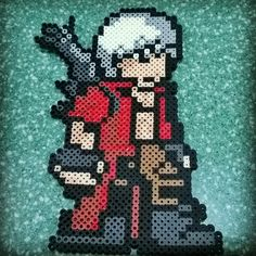 Dante - Devil May Cry perler beads by ccereu
