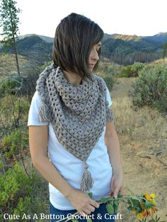 This version of the half granny square triangle scarf uses alternating Double Crochet and Puff Stitch rows to create a more 3 dimensional texture. The result is a warm, cozy shawl with eye catching…
