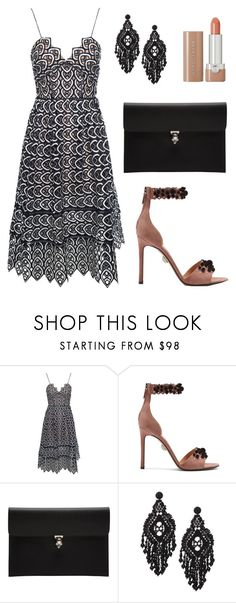 """Live It Up"" by tasha-m-e ❤ liked on Polyvore featuring self-portrait, Samuele Failli, Alexander McQueen, Kate Spade and Marc Jacobs"