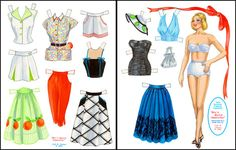 Mix n Match Separates [1950s Fashions] : Paper Dolls from Paperdoll Review as a little girl, I loved playing with my paper dolls, even designing their clothes.