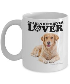 Looking for a #gift for #GoldenRetrieverLover? This coffee mug is the perfect gift to give for Golden Retriever owner on his or her #birthday, #Christmas or any occasion. #GiftIdeas #DogLovers