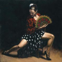Flamenco Dancer sevillana painting is shipped worldwide,including stretched canvas and framed art.This Flamenco Dancer sevillana painting is available at custom size. Fabian Perez, Mary Cassatt, Renoir, Local Art Galleries, Spanish Dancer, Spanish Woman, Frank Morrison, Impressionist Paintings, Oil Paintings