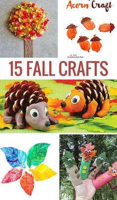 15 Fun Fall Crafts for Kids To Make Together Autumn Activities, Craft Activities For Kids, Preschool Crafts, Craft Ideas, Preschool Kindergarten, Crafts For Kids To Make, Easy Crafts, Art For Kids, Kids Crafts