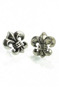 Fleur De Lis Earrings, $7.99