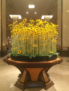 Sunflowers at lobby