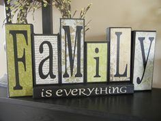 You Craft Me Up!: Family is everything blocks I like the letters on this one the best!!
