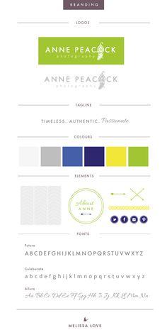 Anne Peacock Photography Branding & Brand by Melissa Love Design. www.melissalove.co.uk